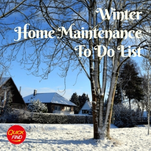 Winter Home Maintenance To Do List