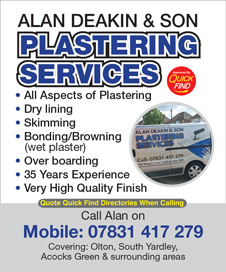 Alan Deakin and Son Plastering Services