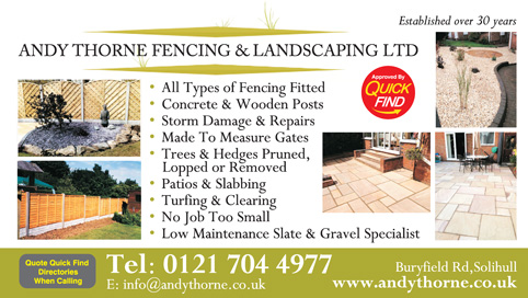 Andy Thorne Fencing & Landscaping Ltd