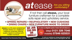 Atease Upholstery Streetly, Sutton Coldfield, Birmingham a Quick Find Directories Local Trusted Upholstery