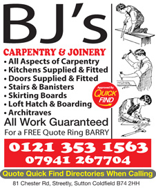 BJ's Carpentry & Joinery