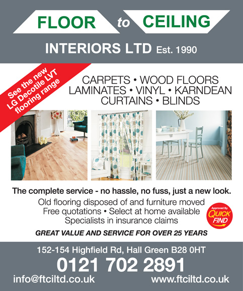 Floor to Ceiling Interiors Ltd