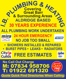 IB Plumbing and Heating Birmingham
