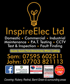 Inspire Elec Ltd, Rubery, Birmingham a Quick Find Directories Local Trusted Electricians