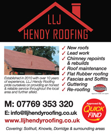 LLJ Hendy Roofing, Redditch, Quick Find Directories Local Trusted Traders