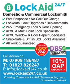 LockAid 24/7 Tamworth