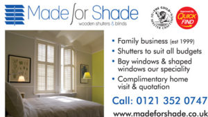 Made For Shade Blinds, Streetly, Birmingham a Quick Find Directories Local Trusted Trader