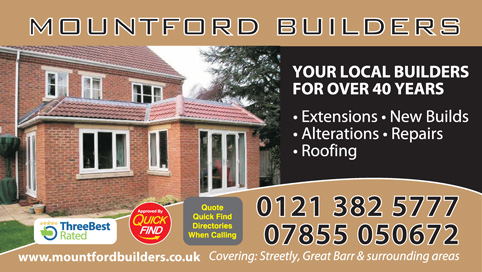 Mountford Builders Sutton Coldfield, Streetly a Quick Find Directories Local Trusted Builder