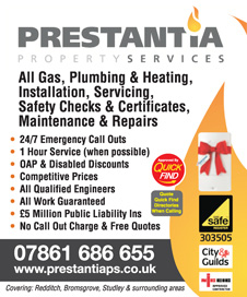 Prestantia Property Services, plumbing and central heating, Redditch, Streetly, Birmingham a Quick Find Directories Local Trusted Trader