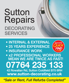 Sutton Repairs Decorating Services