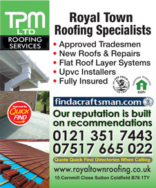 Tpm Roofing Services Birmingham Roofers Local Trusted