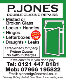 P Jones Double Glazing Repairs