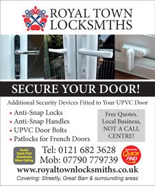 Royal Town Locksmiths Double Glazing Door Security