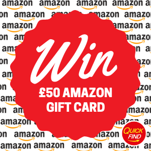 win a £50 amazon gift card - a competition launched by Quick Find Directories