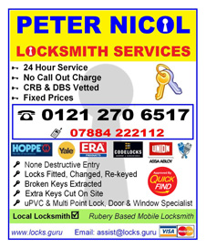Peter Nicol Locksmith Services