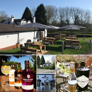 The Brook Inn beer garden in Redditch
