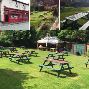 The Duke Inn beer garden in Sutton Coldfield