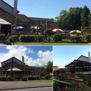 The Longwood beer garden in Fazeley Tamworth