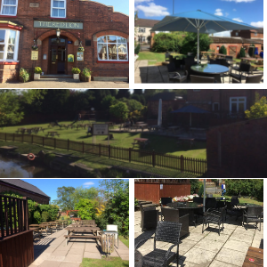 The Red Lion beer garden Hopwas Tamworth