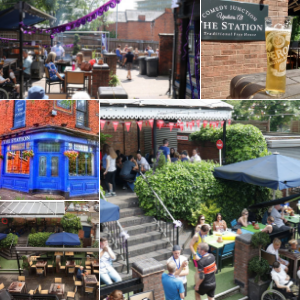 The Station beer garden in Sutton Coldfield