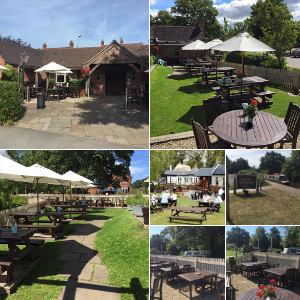 The Tame Otter beer garden in Hopwas Tamworth