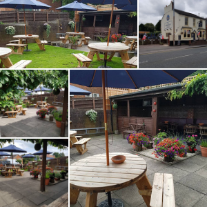 The Whitley beer garden in Halesowen