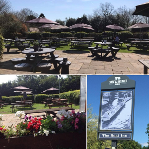The Boat Inn beer garden in Solihull