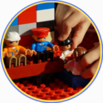 building with duplo lego, things to do with the kids