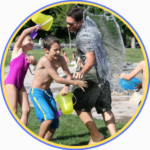 summer water fight, things to do with the kids