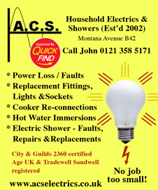 ACS Household Electrics and Showers