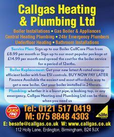Call Gas Heating and Plumbing Ltd