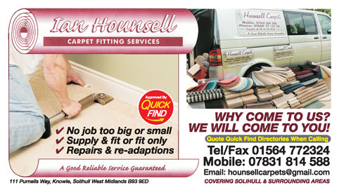 Ian Hounsell Carpet Fitting Services