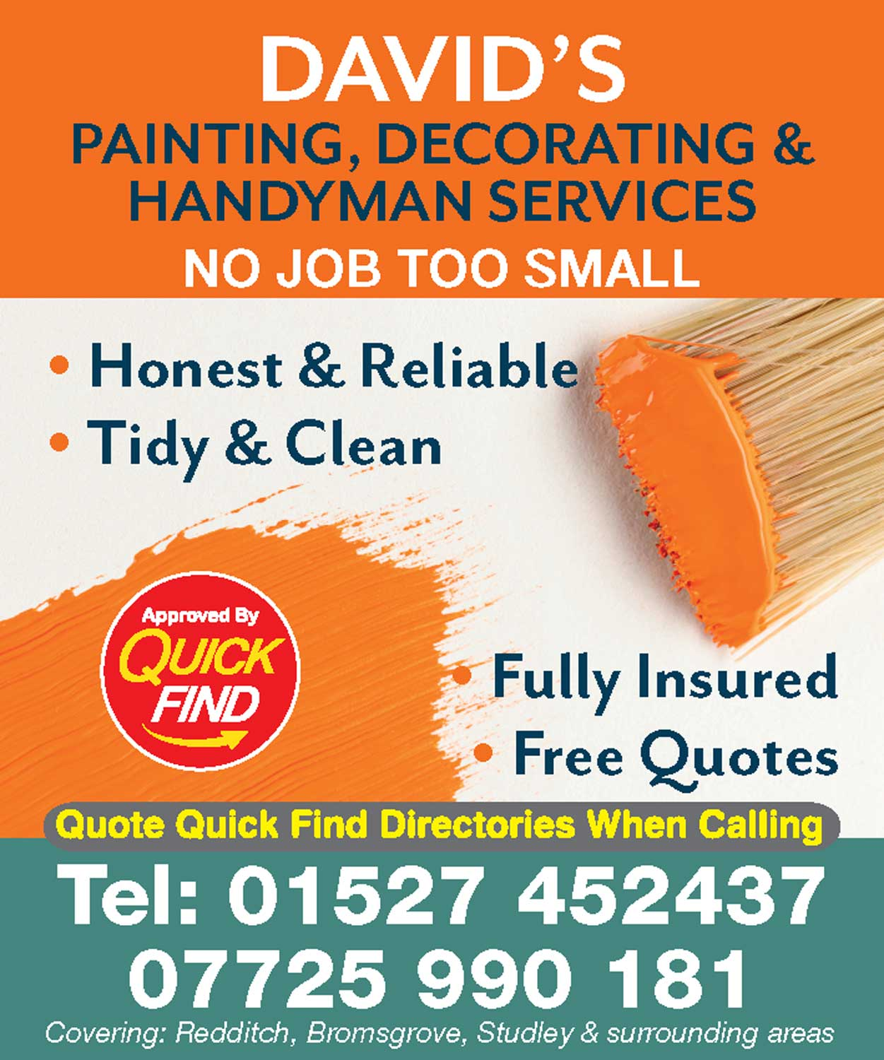 David's Painting, Decorating & Handyman Services