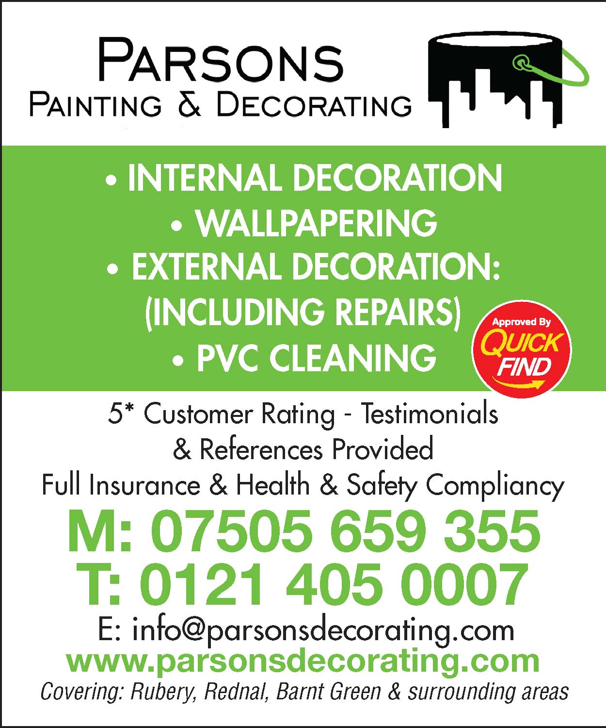 Parsons Painting and Decorating