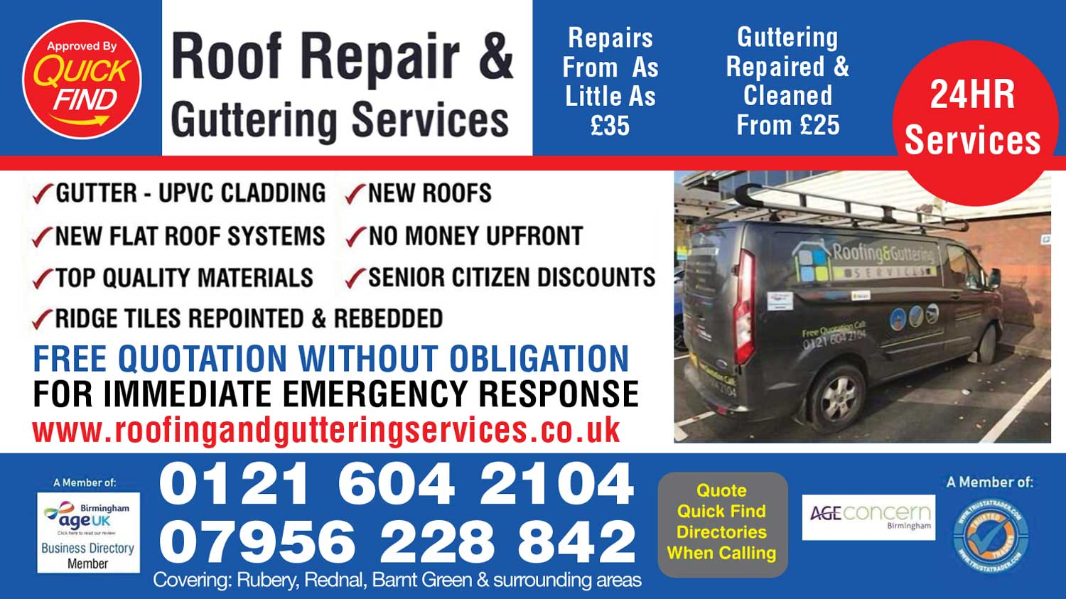 Roof Repair & Guttering Services