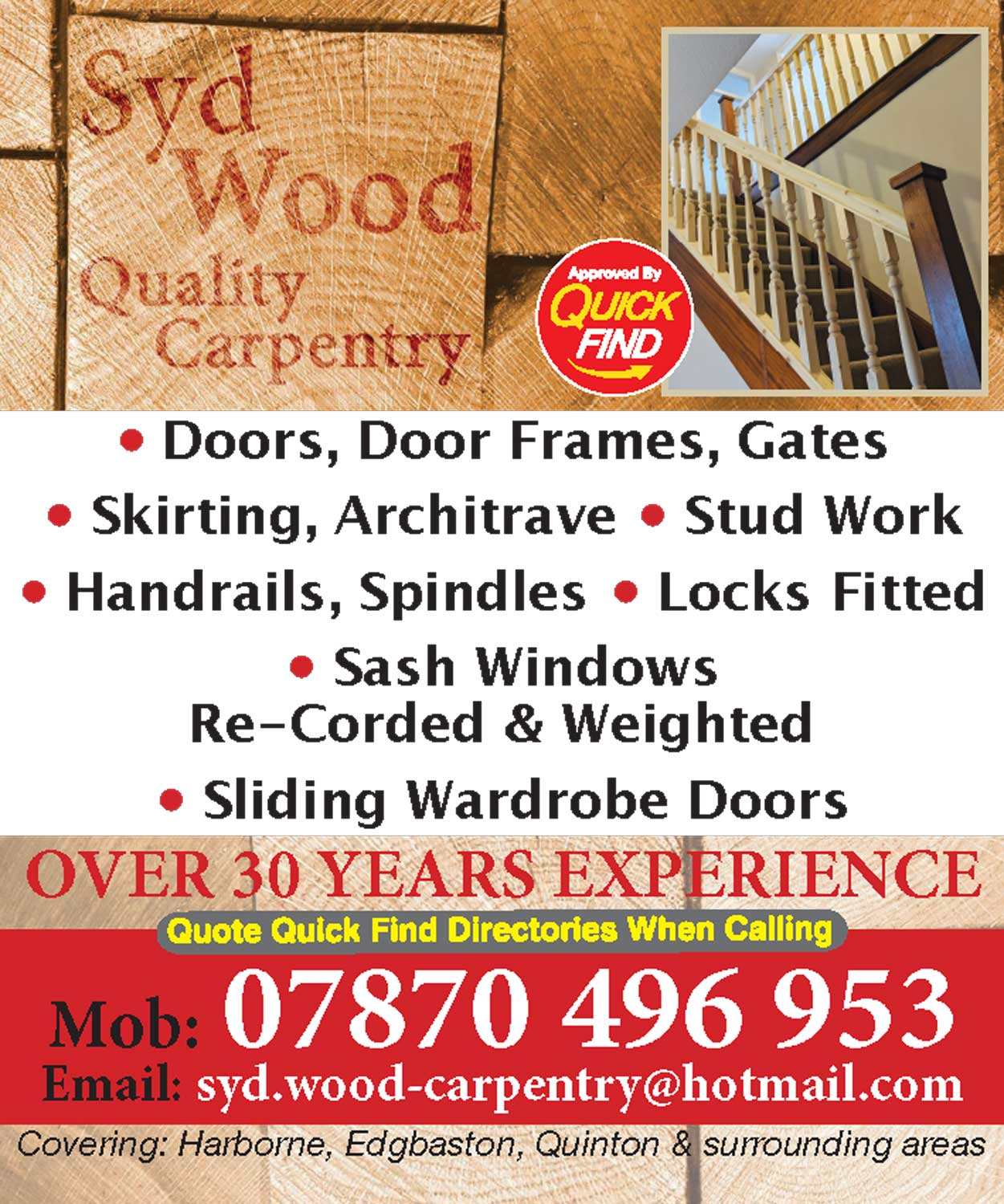 Syd Wood Quality Carpentry