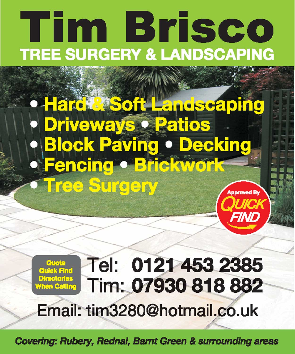 Tim Brisco Tree Surgeon