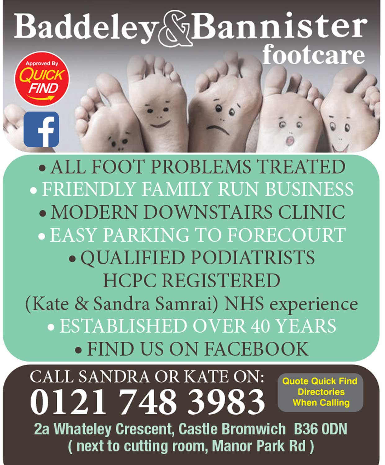 Baddeley & Bannister Footcare