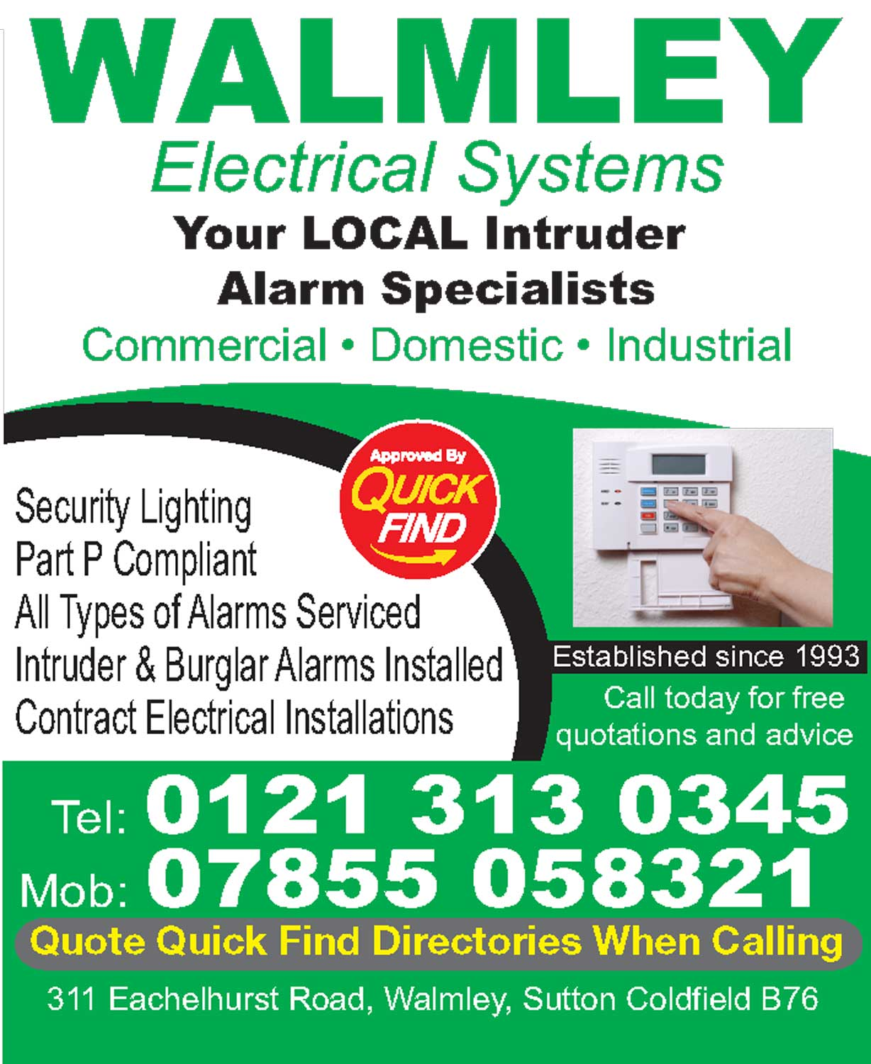 Walmley Electrical Systems