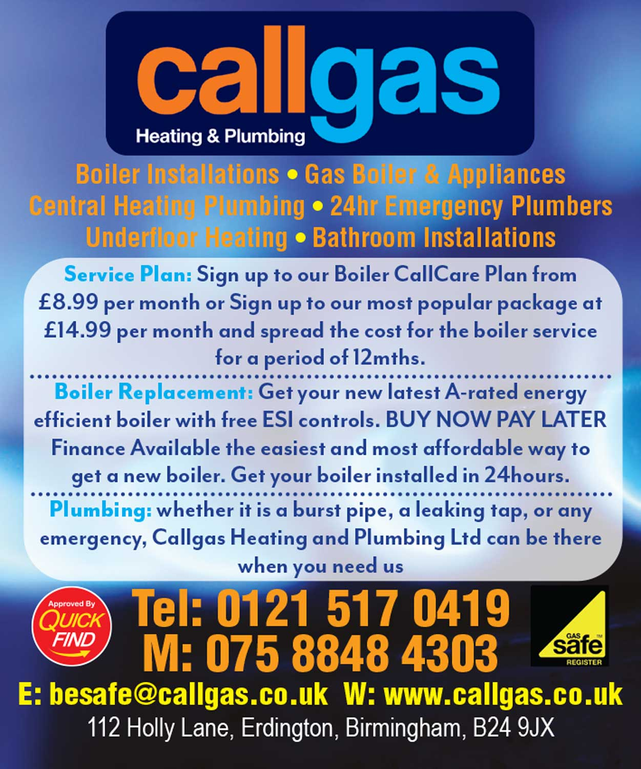 Callgas Heating and Plumbing Ltd