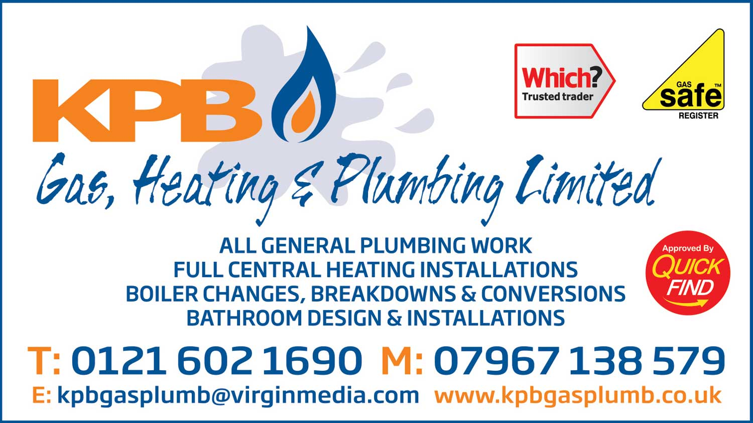 KPB Gas, Heating & Plumbing Ltd.