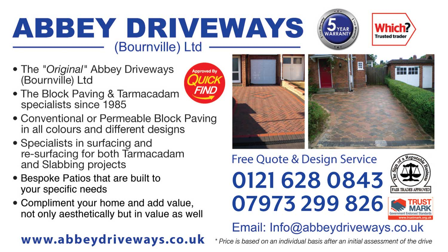 Abbey Driveways Bournville Ltd