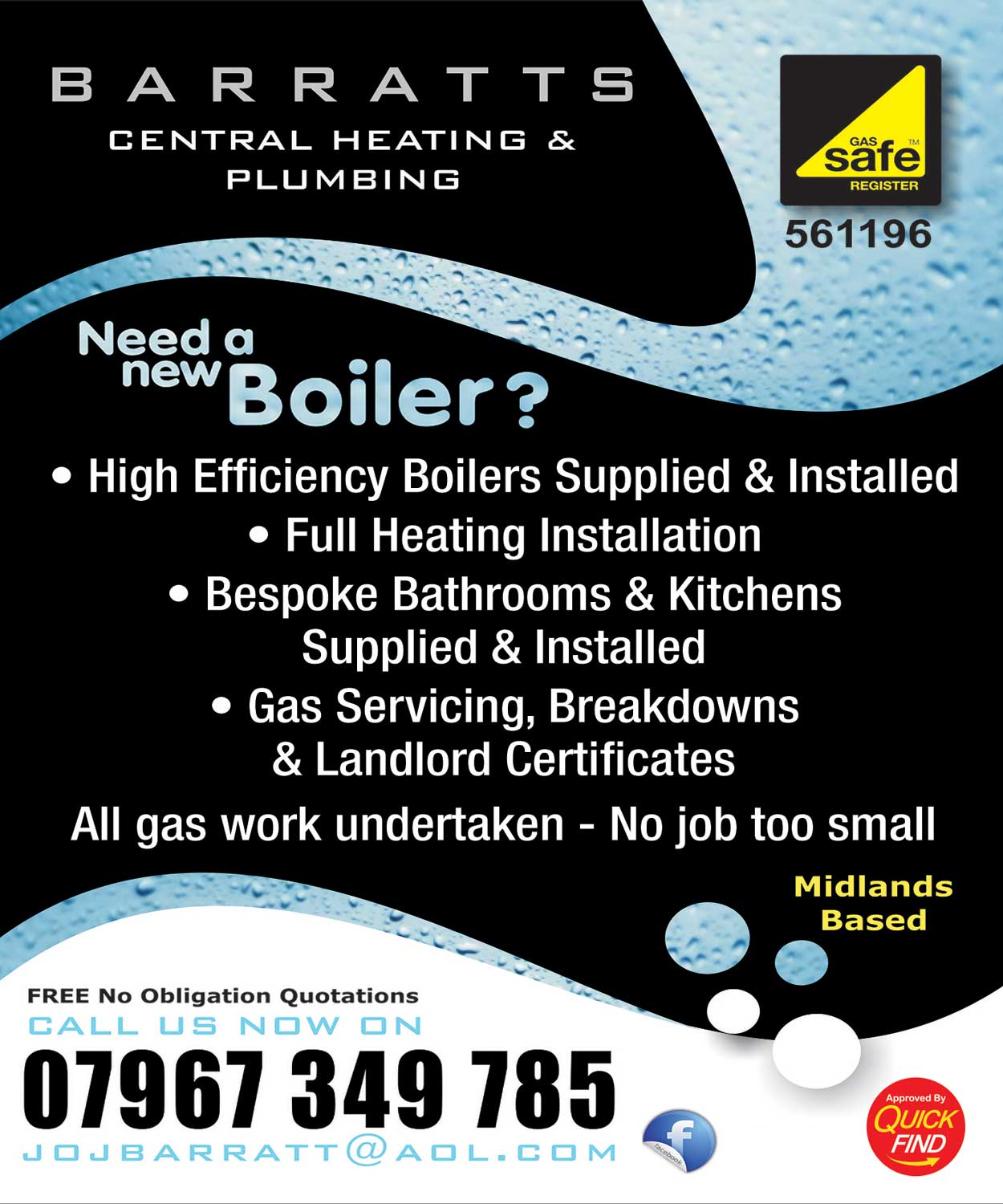 Barratts Central Heating and Plumbing