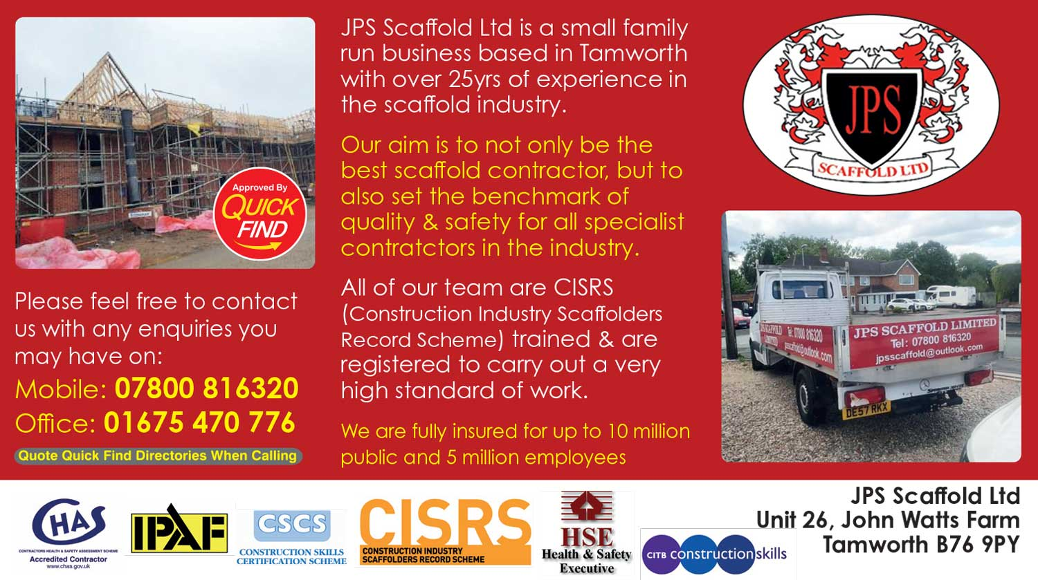 JPS Scaffold Ltd