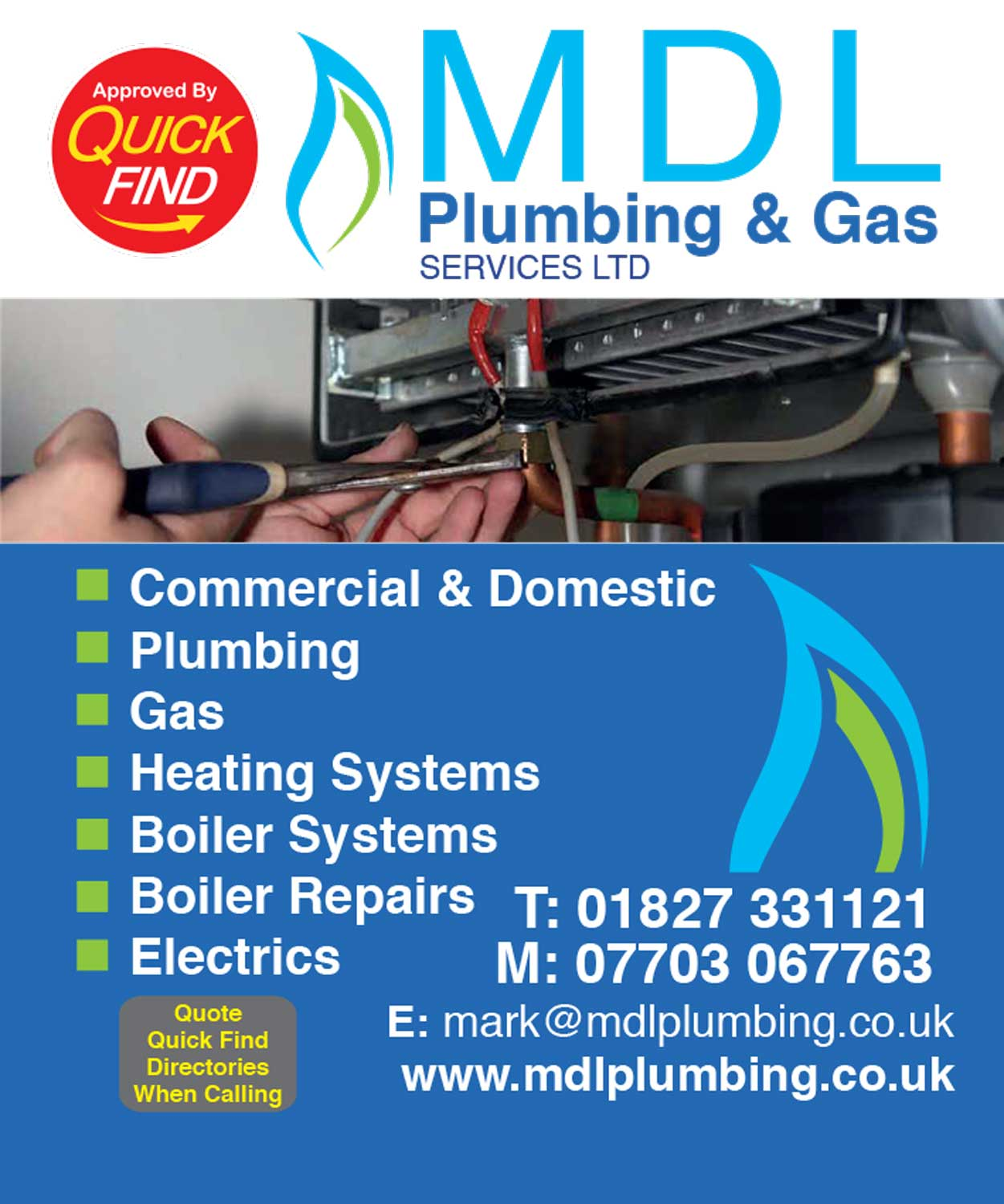 MDL Plumbing & Gas Services Ltd