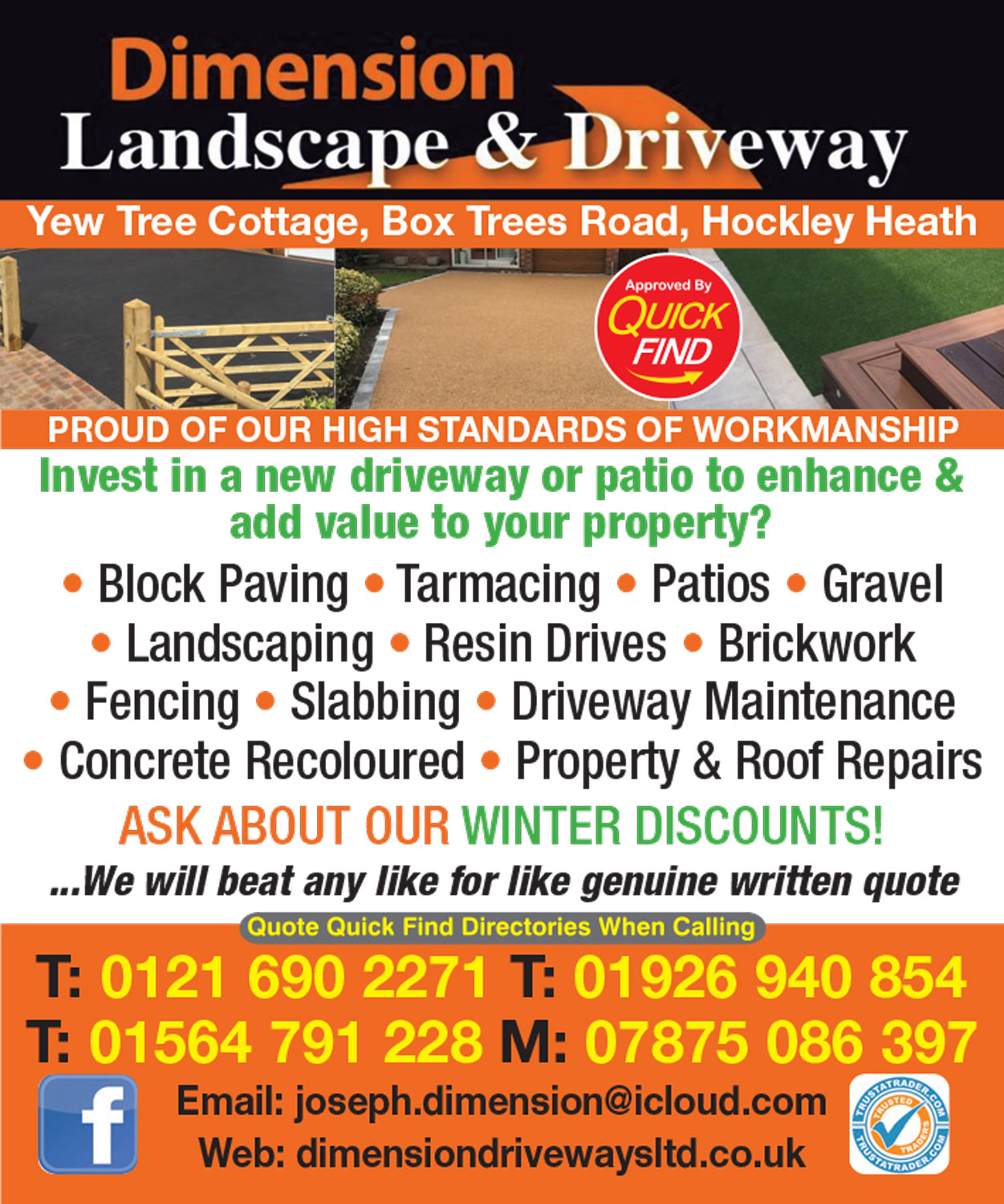 Dimension Landscape & Driveways