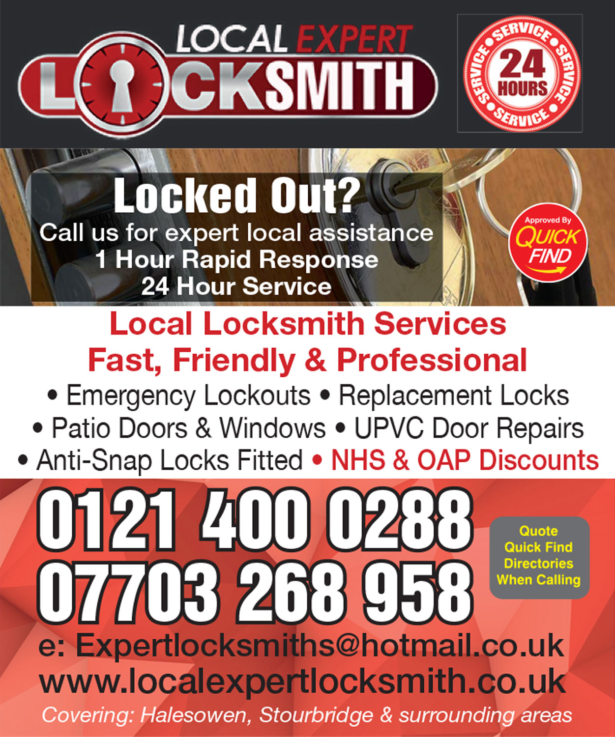 Local Expert Locksmith - Halesowen