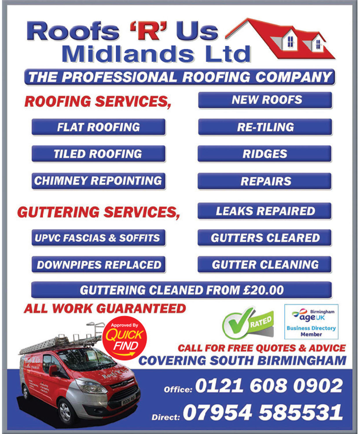 Roofs R Us Midlands Ltd