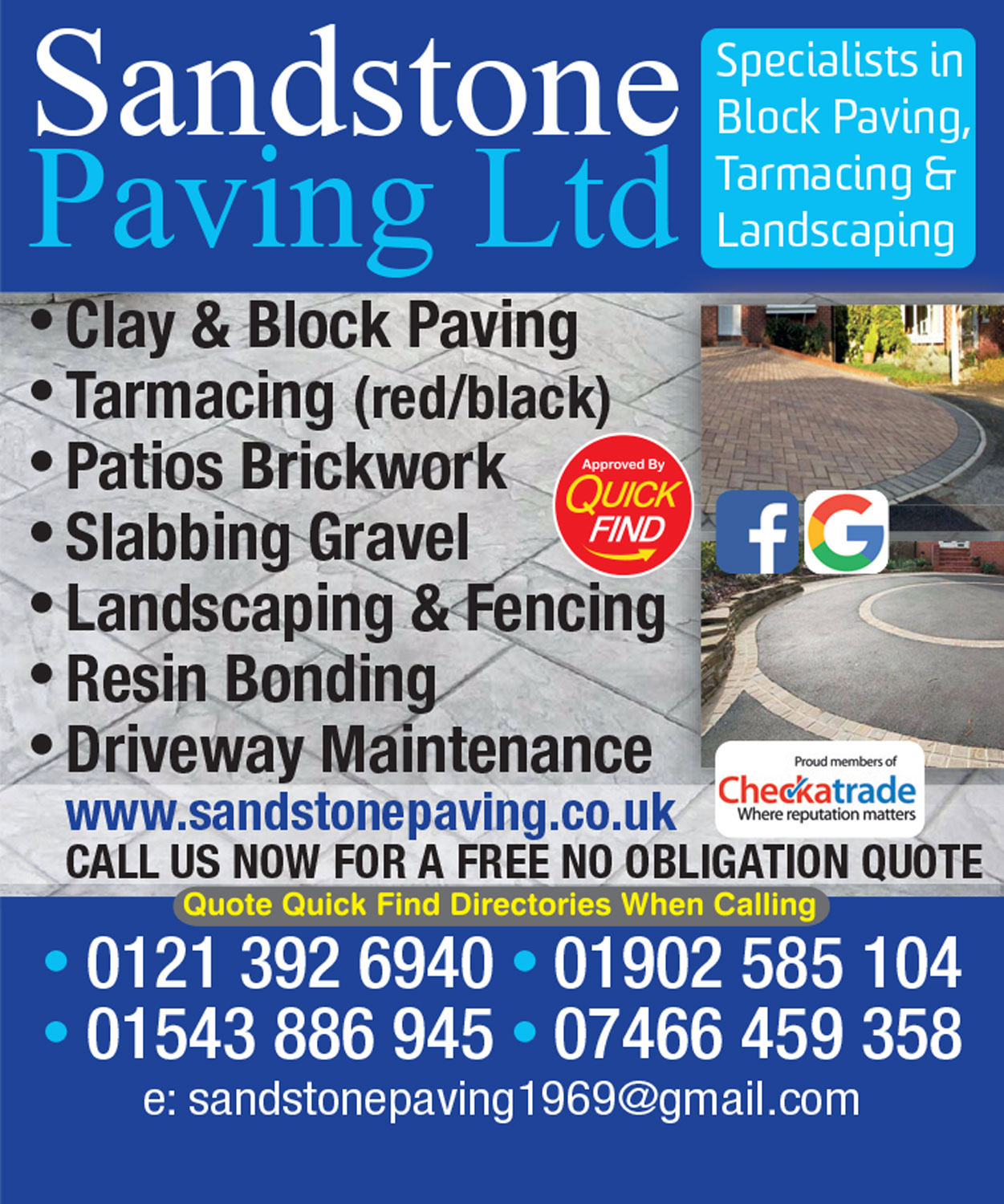 Sandstone Paving Ltd.