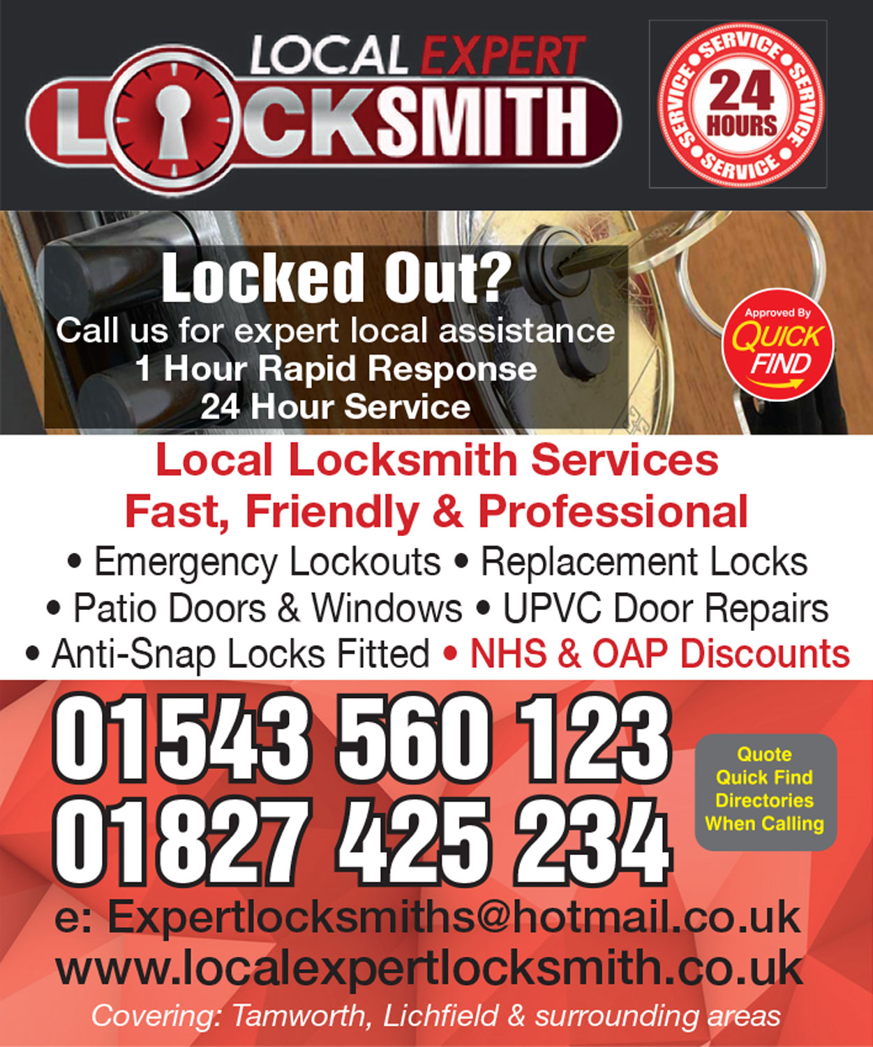 Local Expert Locksmith - Tamworth